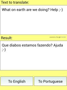 Speaking Portugese